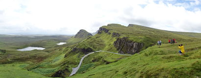 Quiraing on Isle of Skye in Scotland Stock Photos