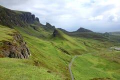 Quiraing on Isle of Skye in Scotland Royalty Free Stock Photos