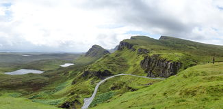 Quiraing on Isle of Skye in Scotland Royalty Free Stock Photography