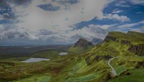 Quiraing on Isle of Skye in Scotland Stock Photo