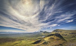 The Quiraing in Isle of Skye royalty free stock images
