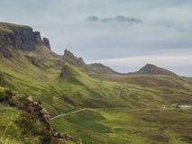 Quiraing, isola di Skye, Scozia Fotografia Stock