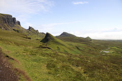 Quiraing landscape Royalty Free Stock Photo