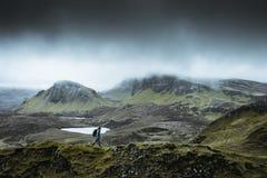 Quiraing - le paysage le plus beau en Ecosse image libre de droits