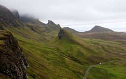 Quiraing mountain range Isle of Sky Scotland Stock Photography