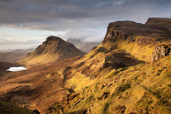 Quiraing na ilha de Skye Imagem de Stock Royalty Free