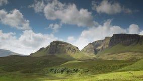 Quiraing pasmo góry w wyspie skye zbiory