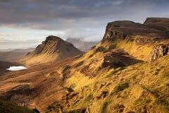 Quiraing sur l'île de Skye Image libre de droits