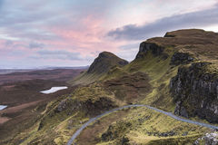 The Quiraing on the Trotternish near Staffin on Skye. Royalty Free Stock Image