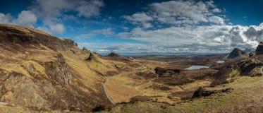 Quiraingen på ön av Skye Scotland Arkivbilder