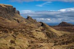 Quiraingen på ön av Skye Scotland Arkivbild