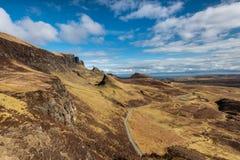 Quiraingen på ön av Skye Scotland Royaltyfri Fotografi