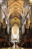 Quire da catedral de Salisbúria imagem de stock