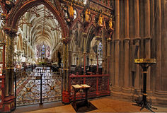 The Quire Screen at Lichfield Stock Image