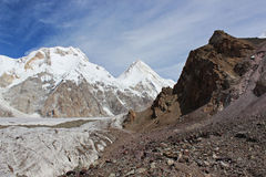 Quirguizistão - Khan Tengri (7.010 m) Fotos de Stock Royalty Free