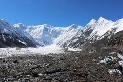 Quirguizistão - pico de Pobeda (Jengish Chokusu) 7.439 m Imagens de Stock Royalty Free
