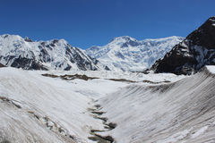 Quirguizistão - pico de Pobeda (Jengish Chokusu) 7.439 m Foto de Stock Royalty Free