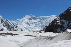 Quirguizistão - pico de Pobeda (Jengish Chokusu) 7.439 m Imagens de Stock