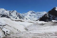 Quirguizistão - pico de Pobeda (Jengish Chokusu) 7.439 m Fotos de Stock Royalty Free