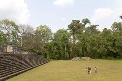 Quirigua nationalpark i Guatemala Arkivbilder