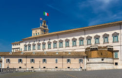 Quirinal Palace, the residence of the President of Italy. In Rome stock images