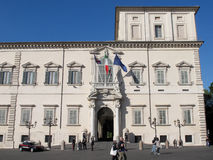The Quirinal Palace in Rome Stock Images
