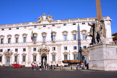 Quirinal Palace Rome Italy Stock Photography