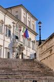 Quirinal Palast, Rom Stockbild
