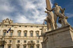 quirinal rome royaltyfri foto