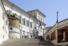 Quirinal slott i Rome Royaltyfri Fotografi