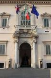 Quirinale宫殿入口  免版税库存照片