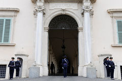 Quirinale Palace guards change Royalty Free Stock Photography