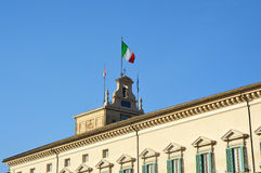 Quirinale, Rome, Italy. View of builiding Quirinale in Rome, Italy Royalty Free Stock Photos