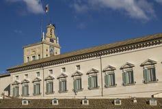Quirinalevoorzitter van italivlag van de republiek Stock Afbeeldingen
