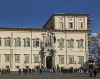 Quirinalevoorzitter van italivlag van de republiek Stock Fotografie