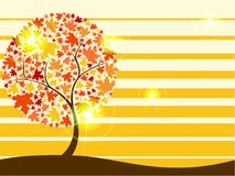 Quirky autumn tree background with Transparencies Royalty Free Stock Image