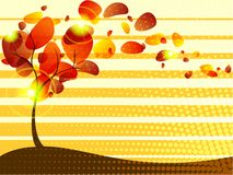 Quirky autumn tree background with Transparencies Royalty Free Stock Images