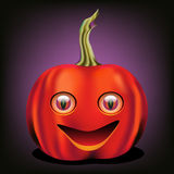 Quirky Halloween pumpkin. Halloween Jack-o-lantern in bright colors Royalty Free Stock Photo