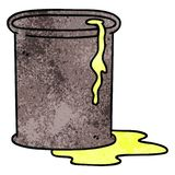 Quirky hand drawn cartoon barrel of oil. A creative illustrated quirky hand drawn cartoon barrel of oil royalty free illustration