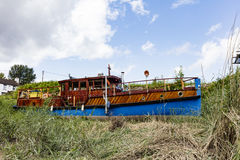 Quirky house boat Royalty Free Stock Image