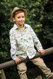 Quirky Kid in a Summery Shirt Royalty Free Stock Photo
