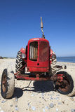 Quirky little red vintage tractor Stock Image