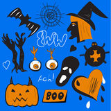 Quirky pin patches halloween Royalty Free Stock Photography
