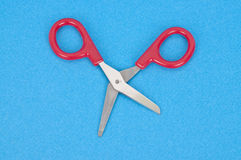 Quirky Red Scissors Stock Photography