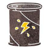 Quirky retro illustration style cartoon barrel of fuel. A creative illustrated quirky retro illustration style cartoon barrel of fuel royalty free illustration