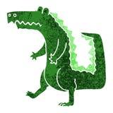 Quirky retro illustration style cartoon crocodile. A creative illustrated quirky retro illustration style cartoon crocodile vector illustration