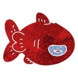 Quirky retro illustration style cartoon fish. A creative illustrated quirky retro illustration style cartoon fish royalty free illustration