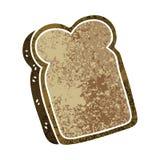 Quirky retro illustration style cartoon slice of bread. A creative illustrated quirky retro illustration style cartoon slice of bread royalty free illustration
