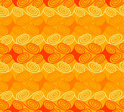 Quirky waves. Quirky seamless waves pattern in warm colors Stock Photography