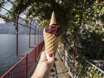 ¿Quisiera el helado? Foto de archivo libre de regalías